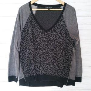 Sanctuary Sweaters - Sanctuary | Leopard Print Zipper Sweater